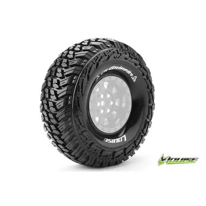 CR-GRIFFIN - 1-10 CRAWLER TIRES - SUPER SOFT - FOR 1.9 RIMS