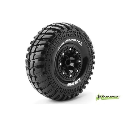 CR-ARDENT 1:10 CRAWLER TIRE SET MOUNTED SUPER SOFT BLACK 2.2