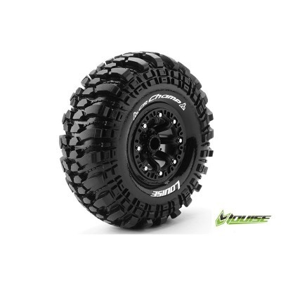 CR-CHAMP 1:10 CRAWLER TIRE SET MOUNTED SUPER SOFT BLACK 2.2