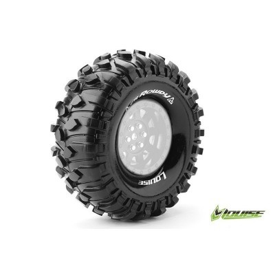 "CR-ROWDY 1:10 CRAWLER TIRES SUPER SOFT FOR 1.9"" RIMS 1 PAIR"