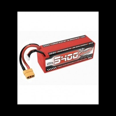 Team Corally - Sport Racing 50C LiPo Battery - 5400mAh - 14.8V - Stick 4S - Hard Wire - XT90