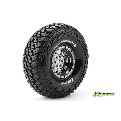 CR-GRIFFIN - 1-10 CRAWLER TIRE SET - MOUNTED - SUPER SOFT -