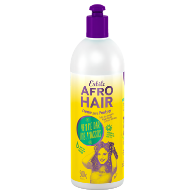Creme de Pentear Estilo AfroHair Argan e Linhaça 500g