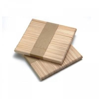 100 Espátulas de cera madeira 115X10X2 MM