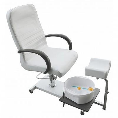 Cadeira de Pedicure Com Massajador Rickiparodi Branca