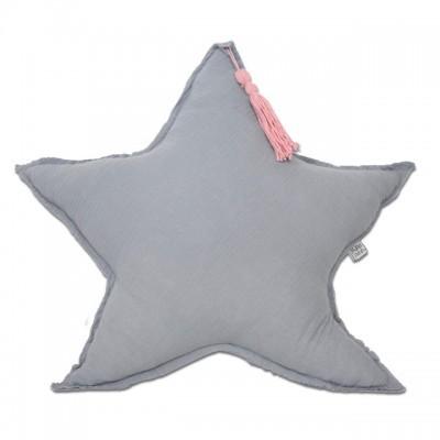 Almofada Estrela Cinza