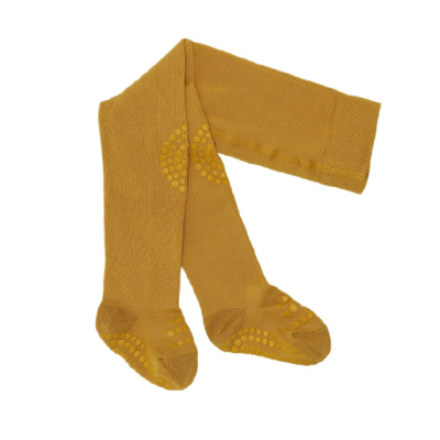Collants Antiderrapantes Go Baby Go - Mustard