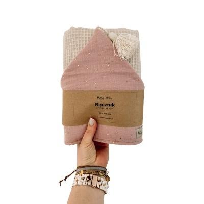 Toalha de Banho com Capuz - Gold Pink
