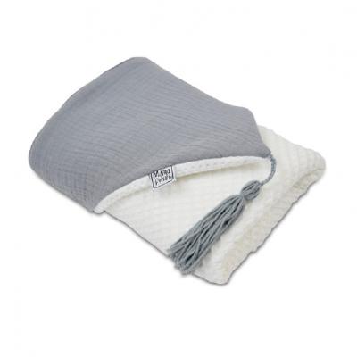 Toalha de Banho com Capuz - White and Grey