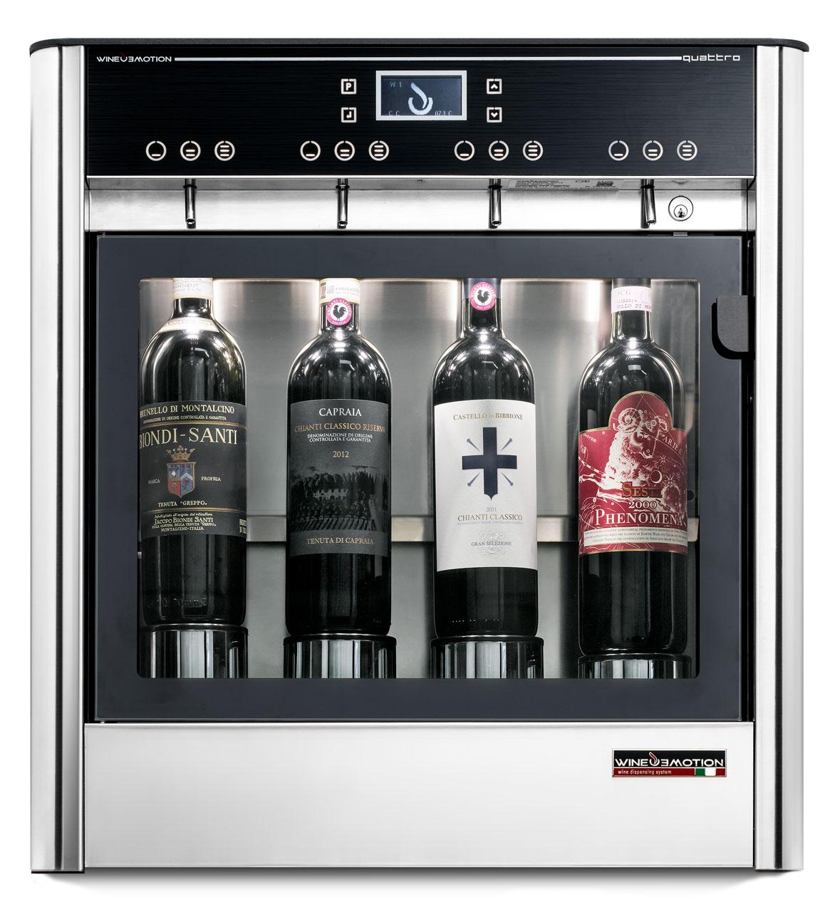 Dispensador de vinho Wineemotion Quattro Series 2