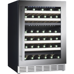 Conservador de vinho integrável de 2 temperaturas para 46 garrafas