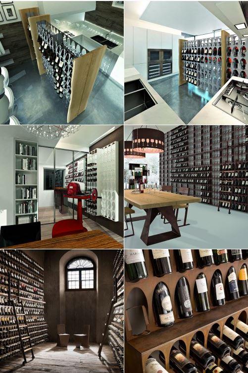 """""""Libreria del Vino"""" - Garrafeira modular de parede ou de chão"""
