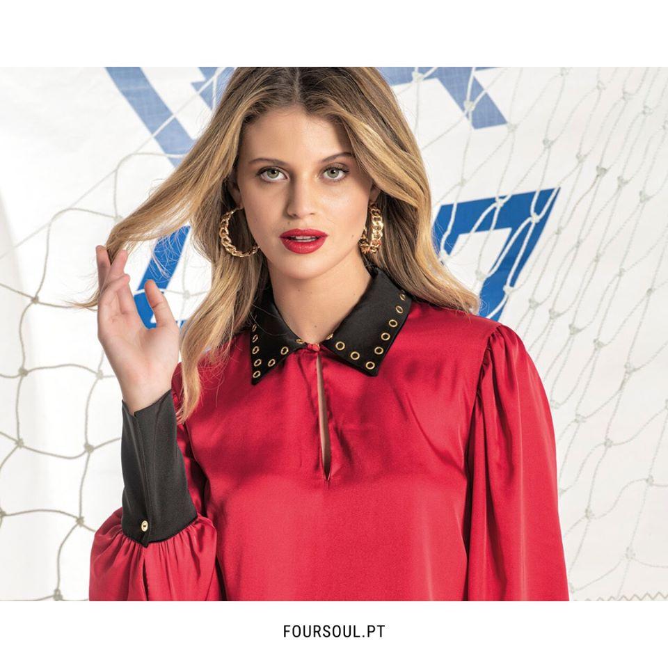 Foursoul Blusa Eylet Shirt