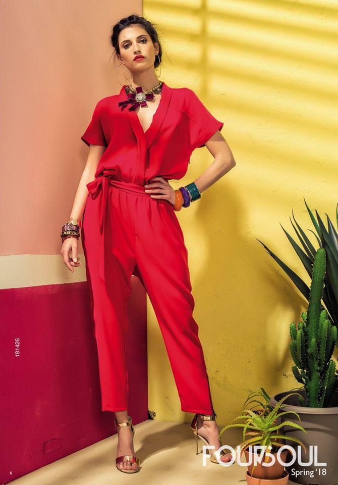 Foursoul Jumpsuit Vermelho