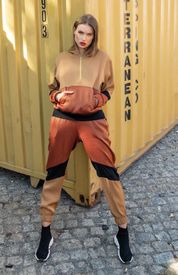 Foursoul Contrast Colour Workout Pants