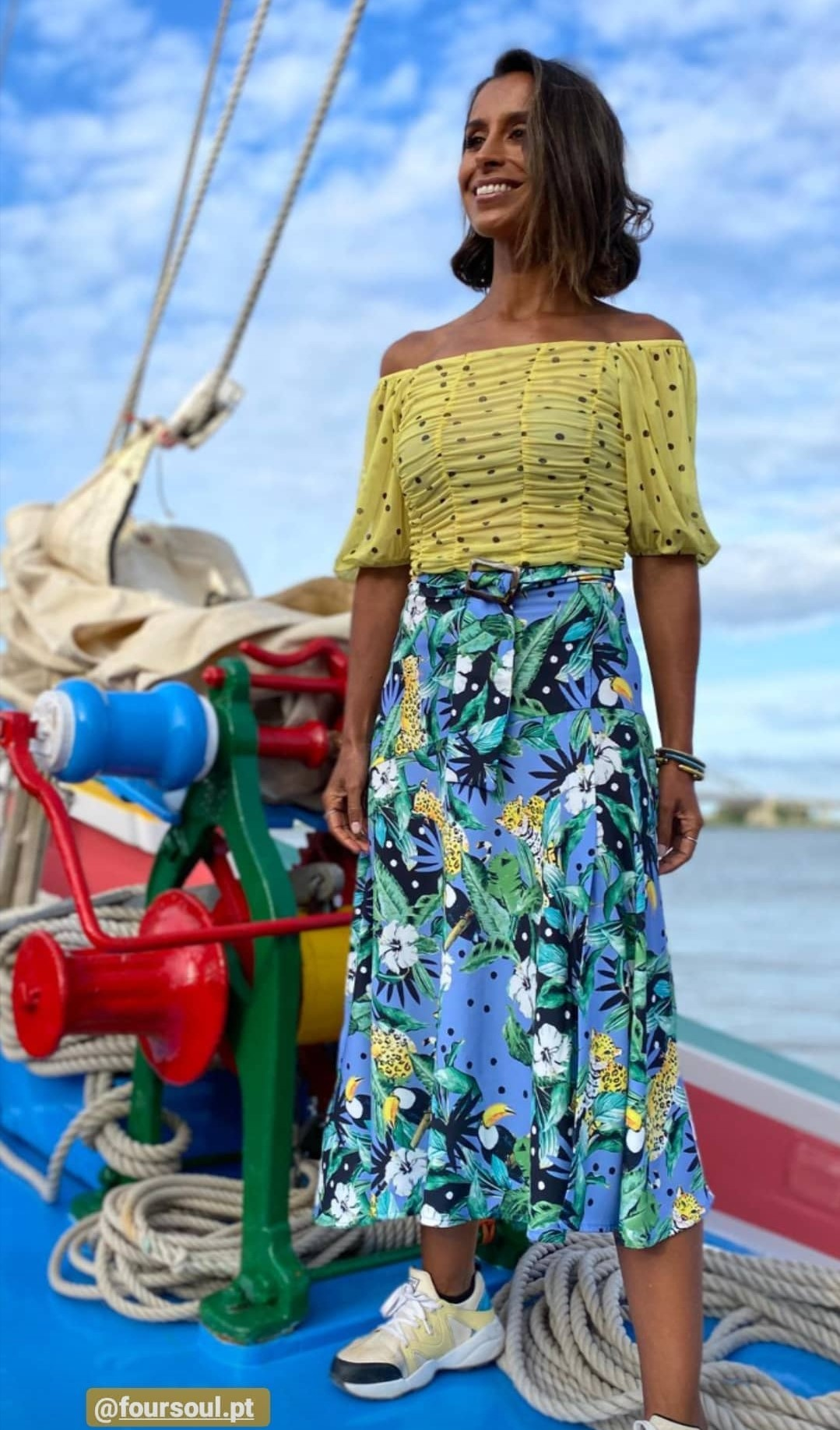 FOURSOUL PRINTED SKIRT