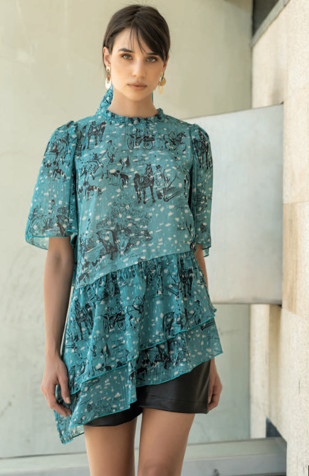 Foursoul Printed Blouse