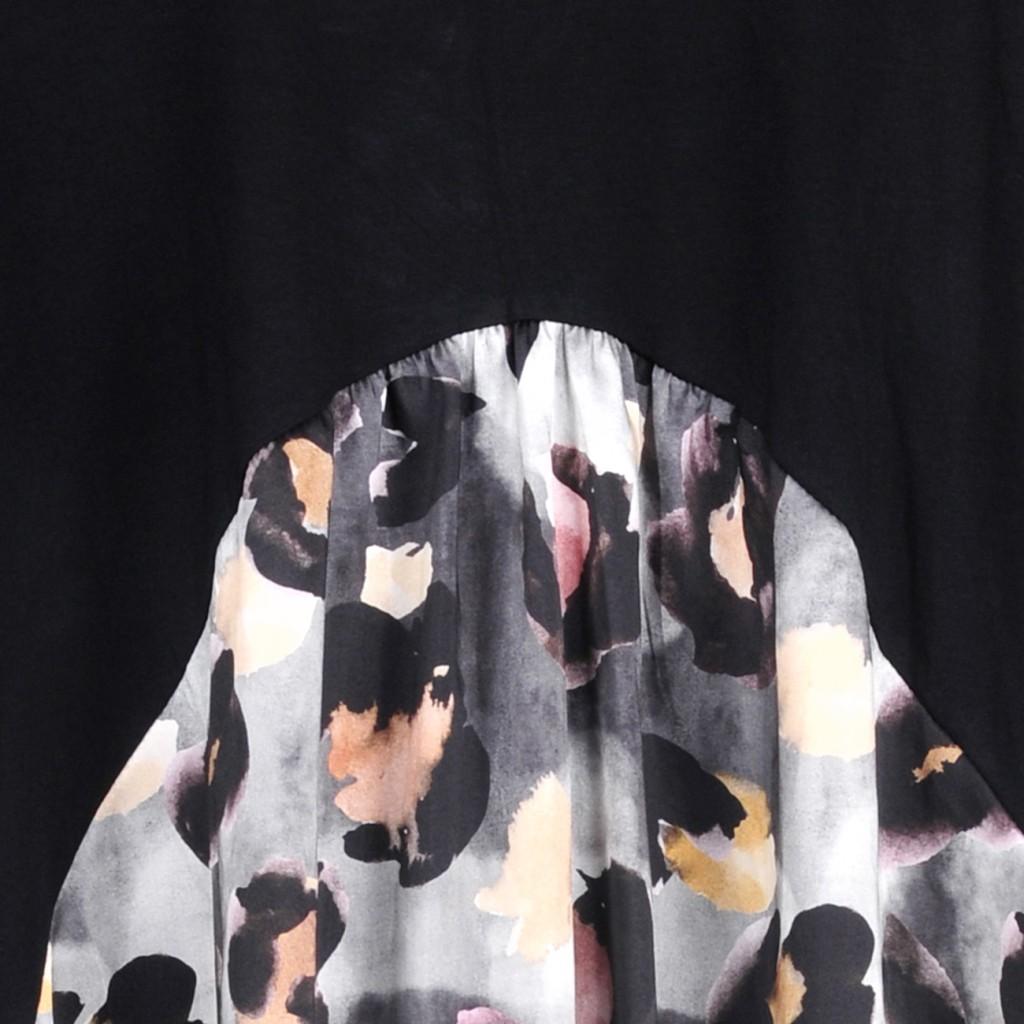 Rulys Vestido com Mistura de Tecidos