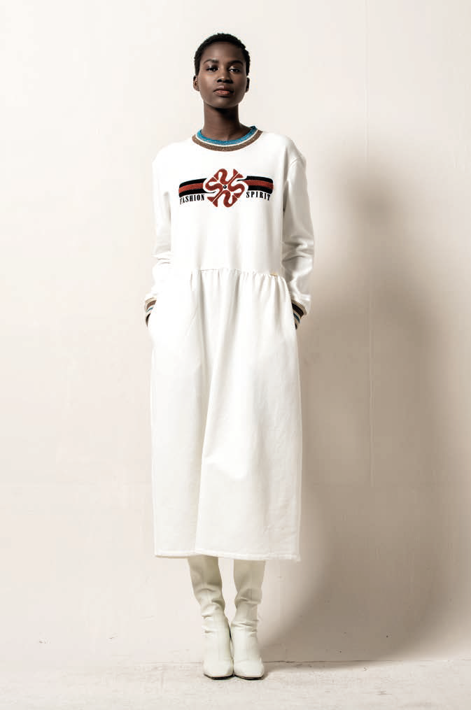 Foursoul Embroidery Sweater Dress