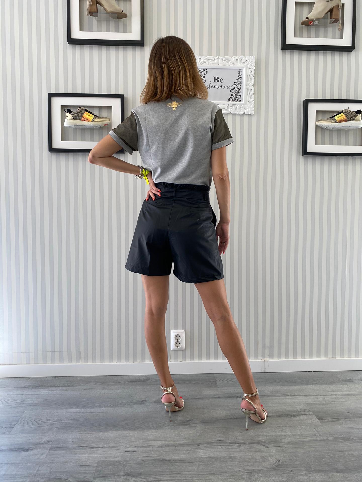 Foursoul Fake Leather Shorts