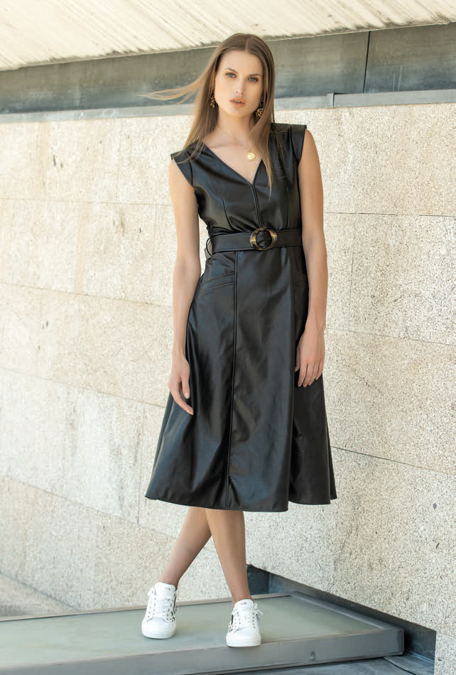 Foursoul Fake Leather Dress