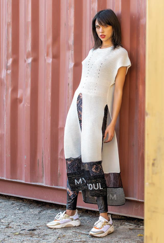 Foursoul knit Long Shirt
