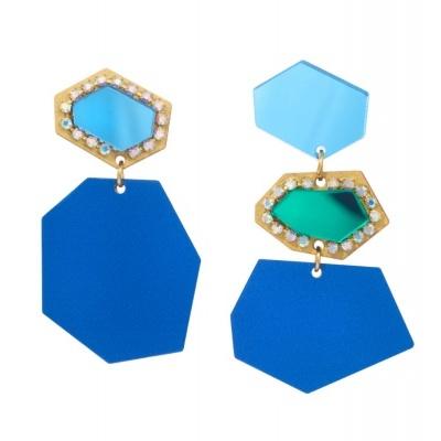 Susana Farinha Brincos Puzzle Blue