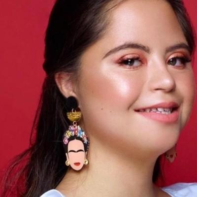 Susana Farinha Brincos Frida Kahlo