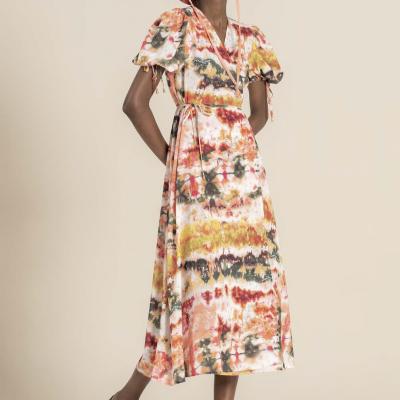 Foursoul Printed Long Dress 212123A