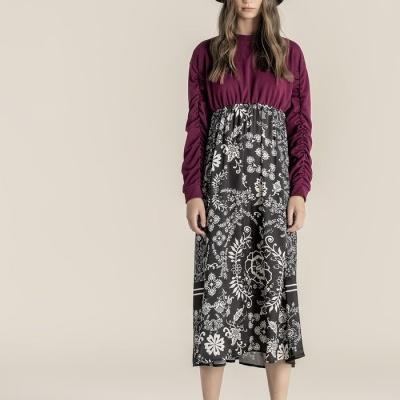 Foursoul Long Sweater Dress 215109A