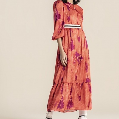 Foursoul Satin Long Dress 211126A