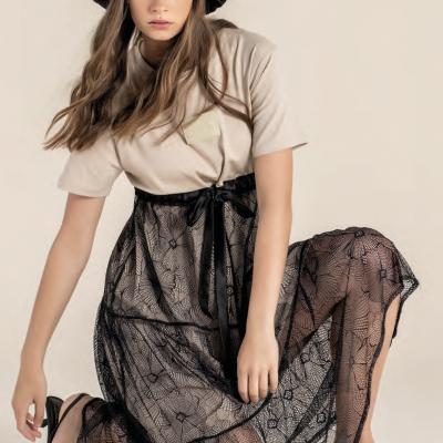 Foursoul Lace T-Shirt Dress 215110