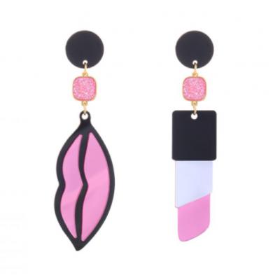 Susana Farinha Brincos Pink Lipstick