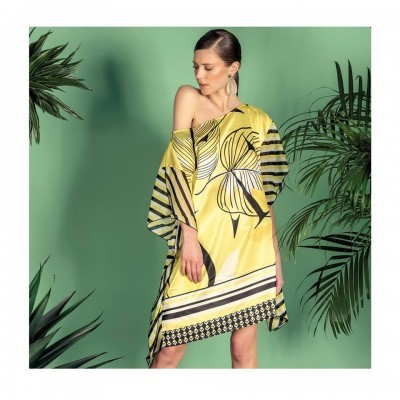 FOURSOUL PRINTED BEACH DRESS