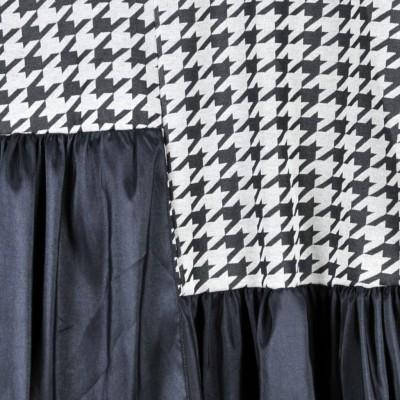 Rulys Vestido Mistura de Tecidos