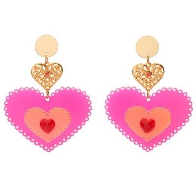 Susana Farinha Brincos Fluo Pink Heart