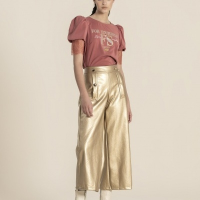 Foursoul Fake Leather Pants 211308