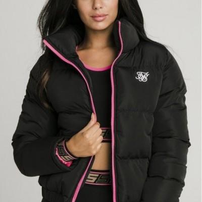 SikSilk Roma Crop Jacket - Black