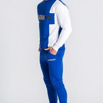 BLUE BLOCK SWEAT & joggers Gianni kavanagh