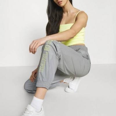 Karl Kani Ladies Retro Shiny Trackpants Grey