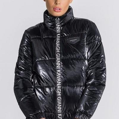 Black Wonderlust Puffer Jacket Gianni kavanagh
