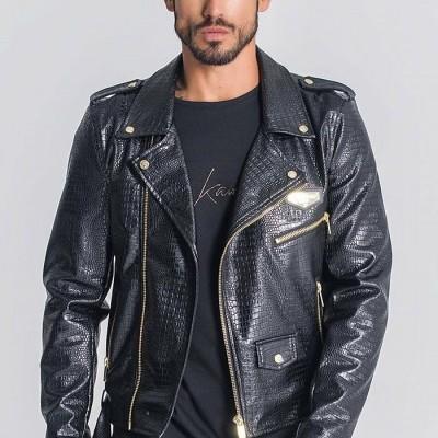 Black Cro Biker Jacket gianni kavanagh