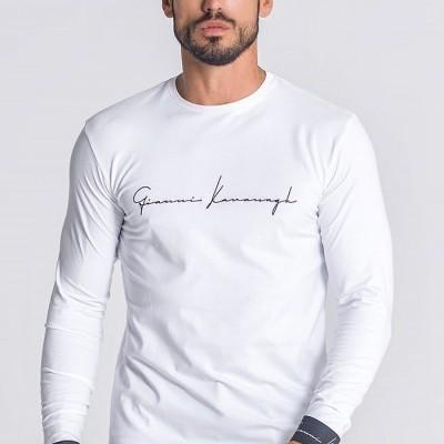White Upscale Long Sleeve Tee Gianni kavanagh