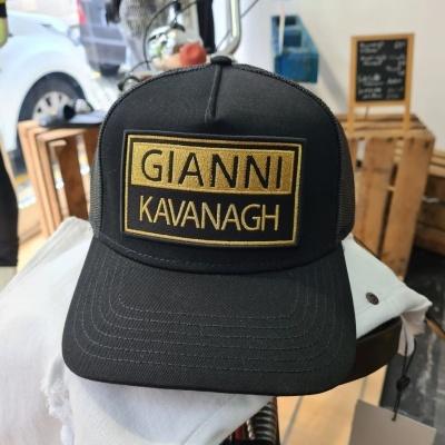 BLACK GK CAP WITH GOLD BADGE