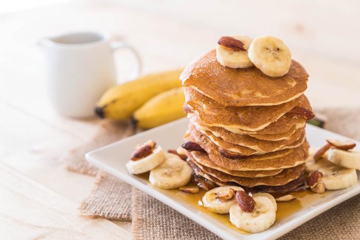 biomit manteiga de amendoim panquecas receita banana saudável snacks lanche delicioso sem conservantes sem açucar vegan bio