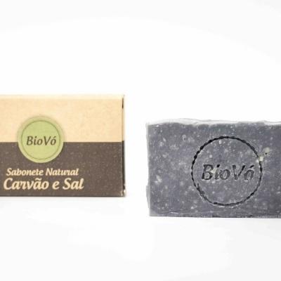 Sabonete Natural de Carvão e Sal