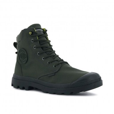 PALLADIUM PAMPA SC RCYCL WP+N-OLIVE NIGHT