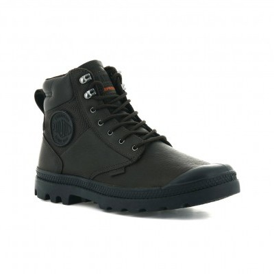 PALLADIUM PAMPA SHIELD WP+ LTH-DARK BROWN