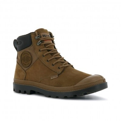 PALLADIUM PAMPA SHIELD WP+ LUX-MAHOGANY