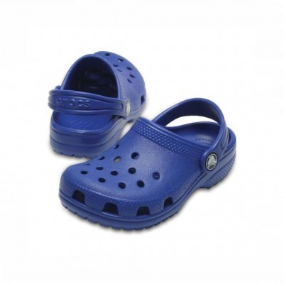 CROCS CLOGS CLASSIC KIDS BLUE JEAN